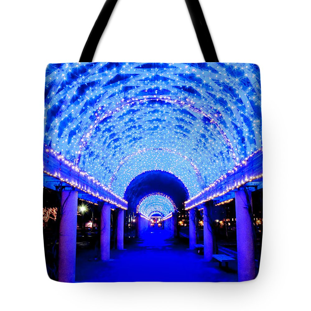 Art Tote Bag featuring the photograph Blues Infinity by Greg Fortier