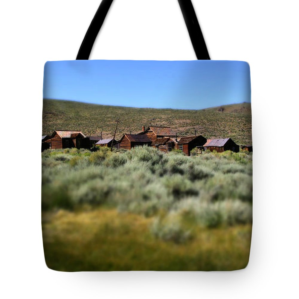 Bodie Ghost Town Landscape Tote Bag featuring the photograph Bodie Ghost Town Landscape by Chris Brannen