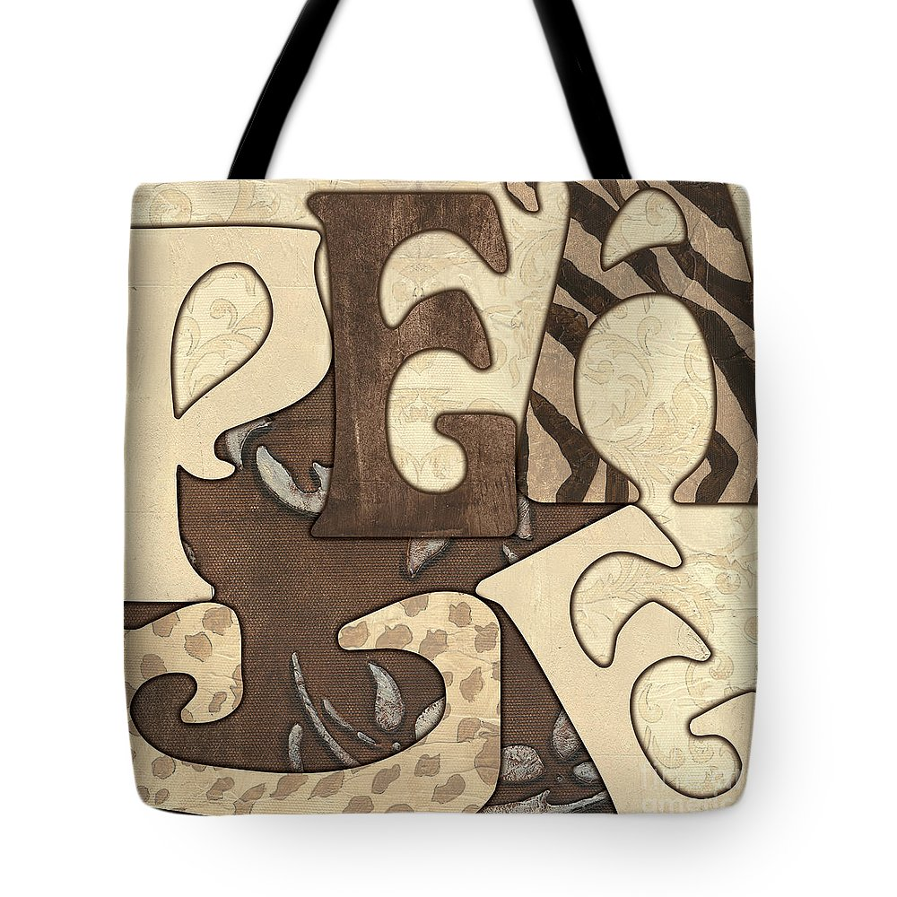 Peace Tote Bag featuring the painting Bohemian Peace by Debbie DeWitt
