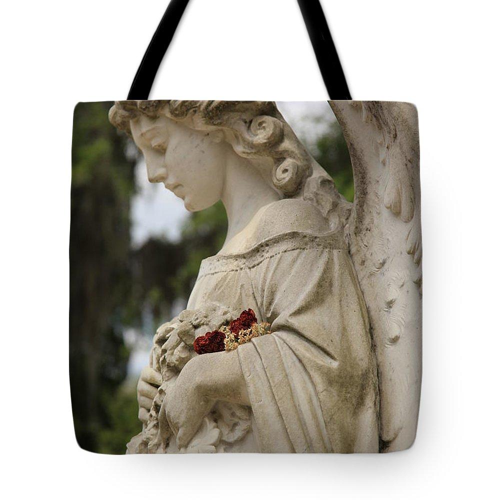 Tote Bag featuring the photograph Bonaventure Angel 2 by Carol Ann Thomas