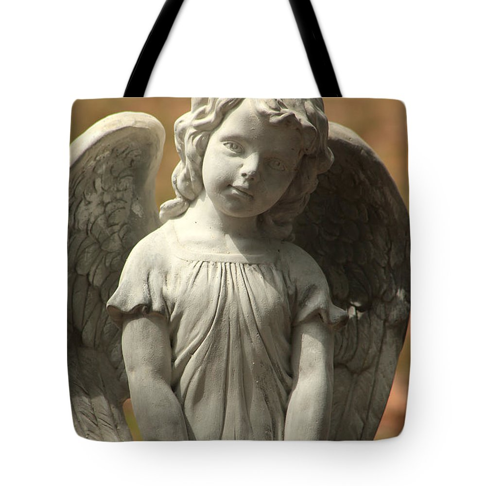 Savannah Ga Tote Bag featuring the photograph Bonaventure Angel 4 by Carol Ann Thomas