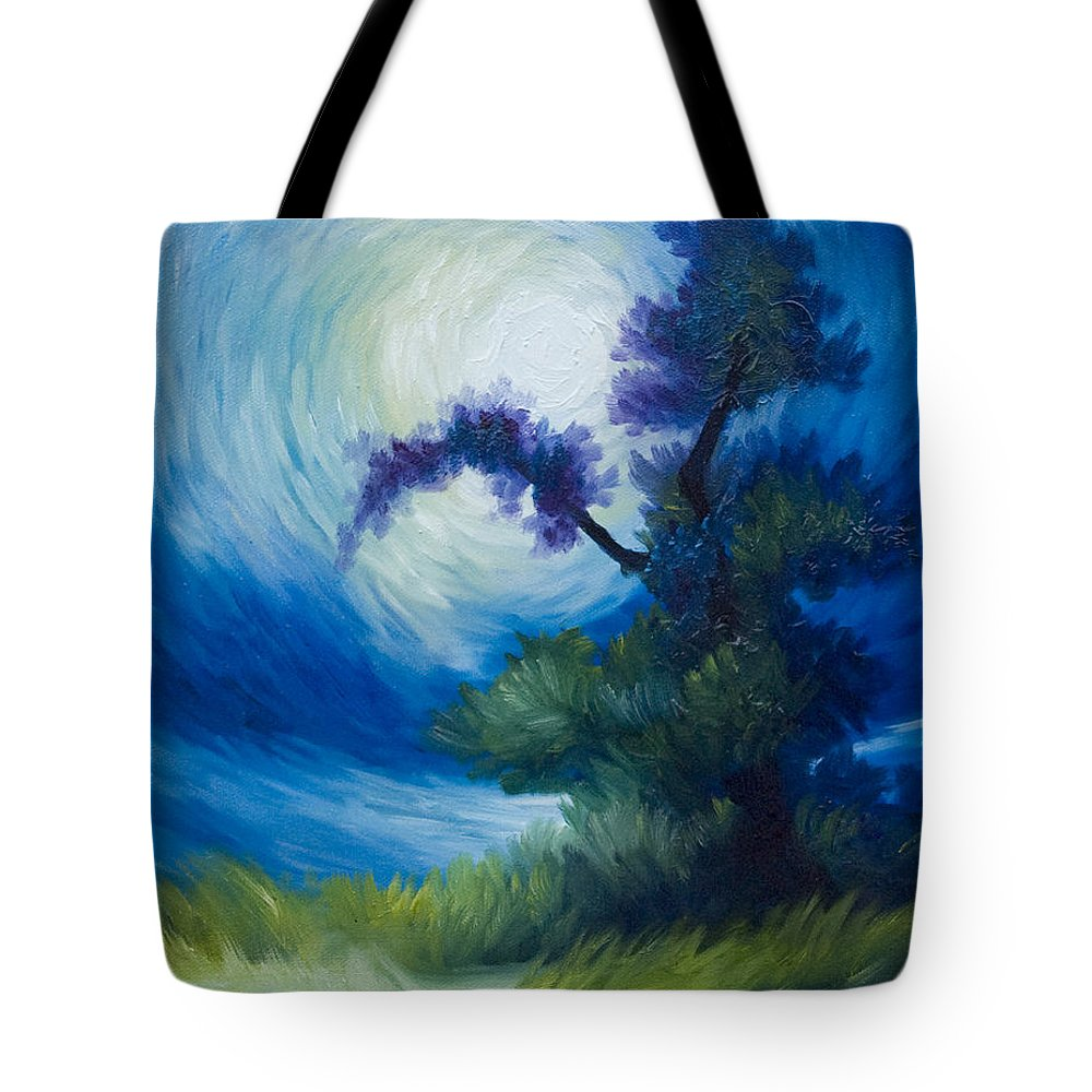 Nature Tote Bag featuring the painting Bonzai II by James Christopher Hill