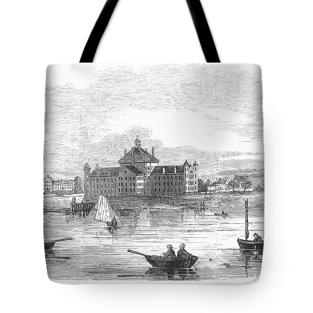 1852 Tote Bag featuring the photograph Boston: Almshouse, 1852 by Granger