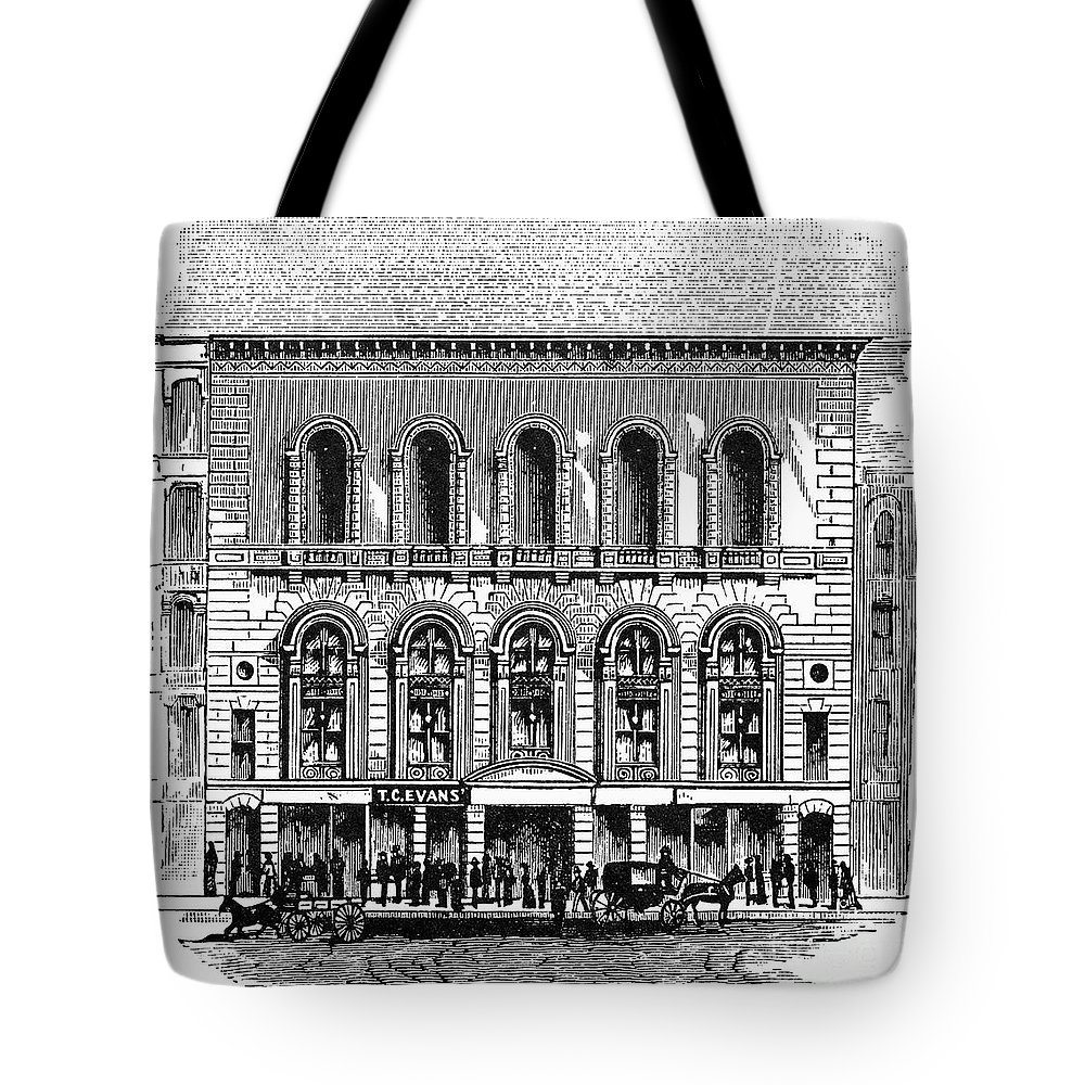 1889 Tote Bag featuring the photograph Boston: Tremont Temple by Granger