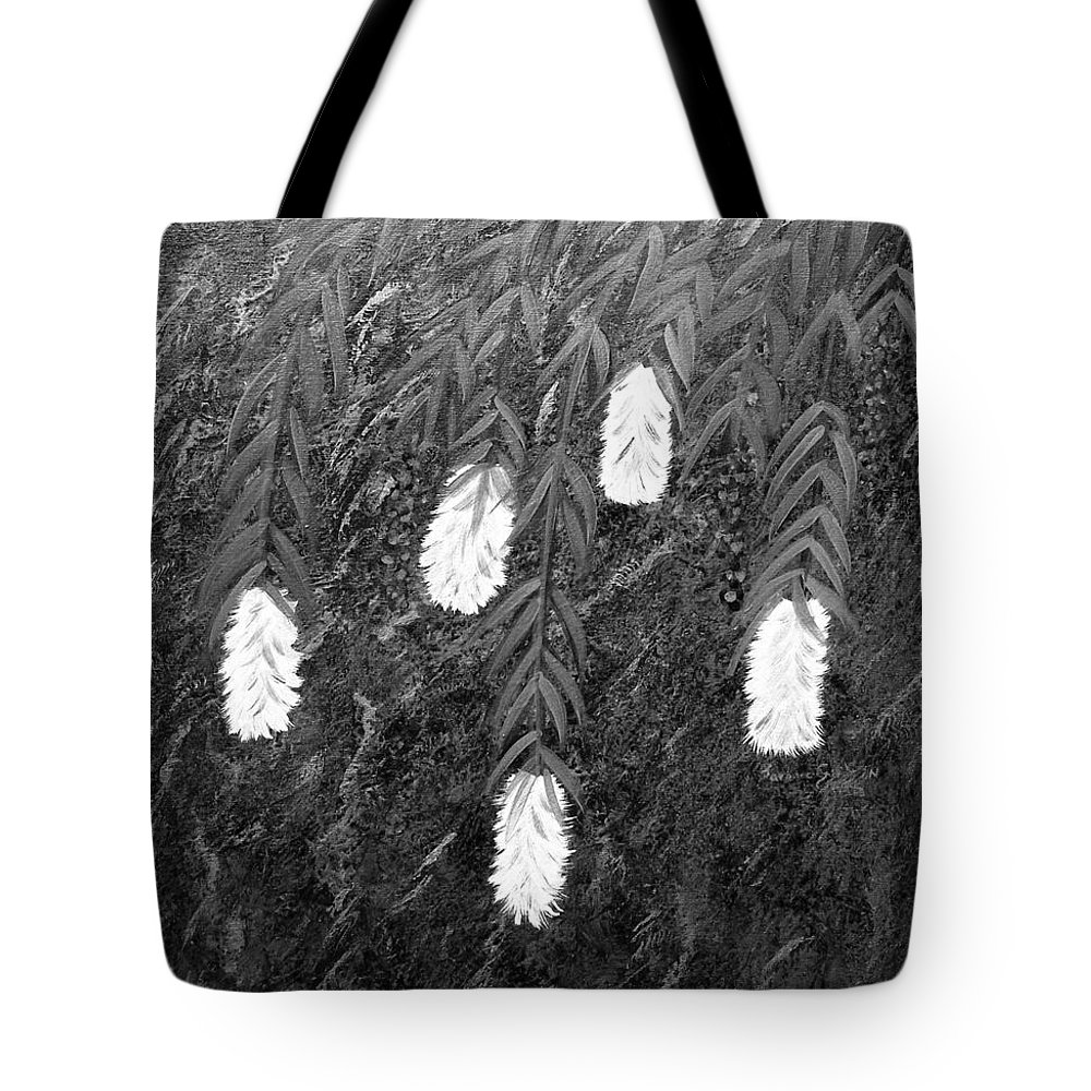Bottlebrush Plant Tote Bag featuring the painting Bottlebrush Plant B W by Barbara Griffin