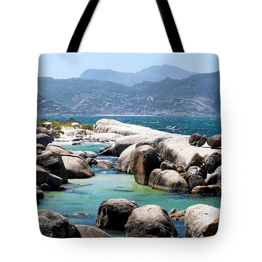 Boulders Tote Bag featuring the photograph Boulders Beach by Fabrizio Troiani