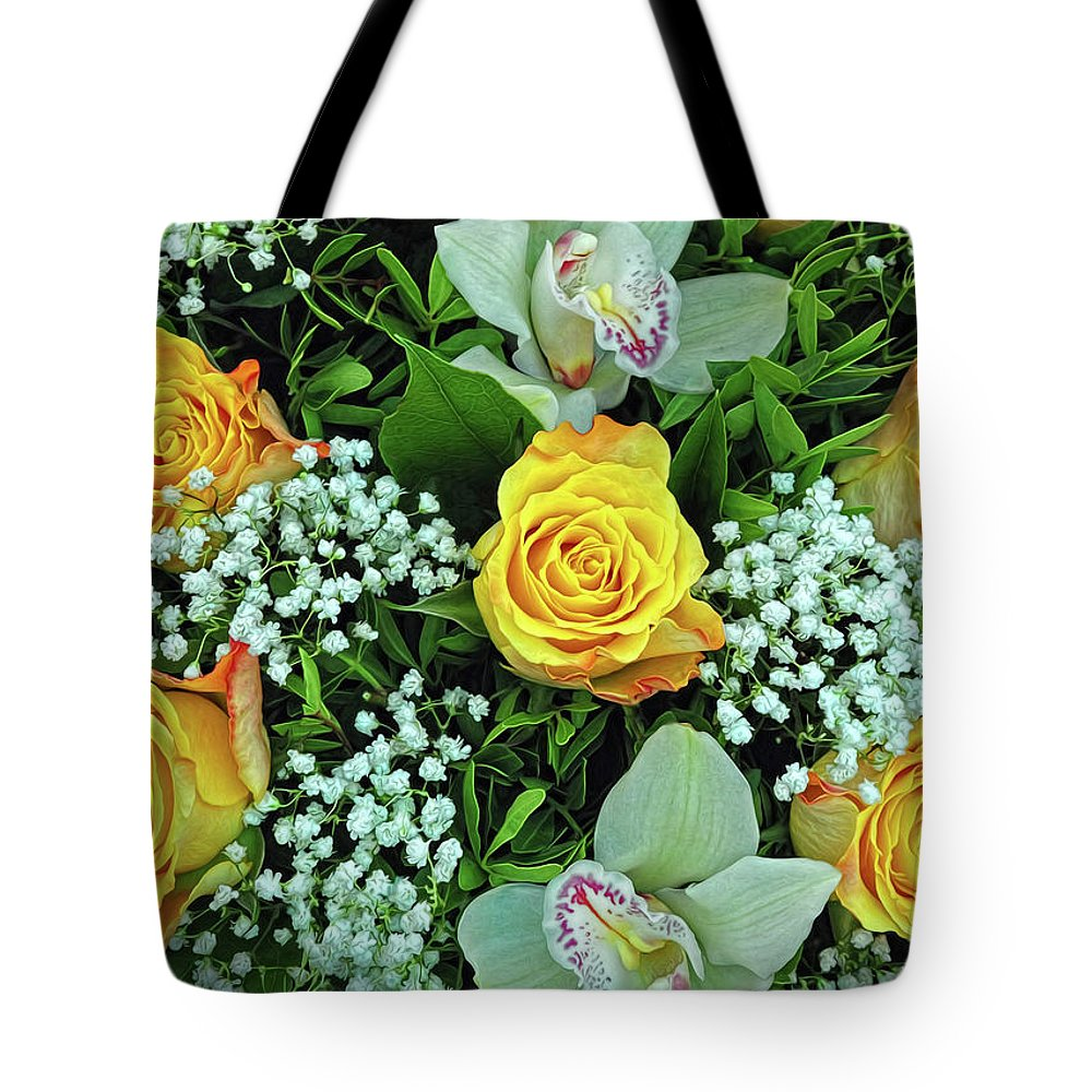 Bouquet Tote Bag featuring the photograph Bouquet by Dave Mills