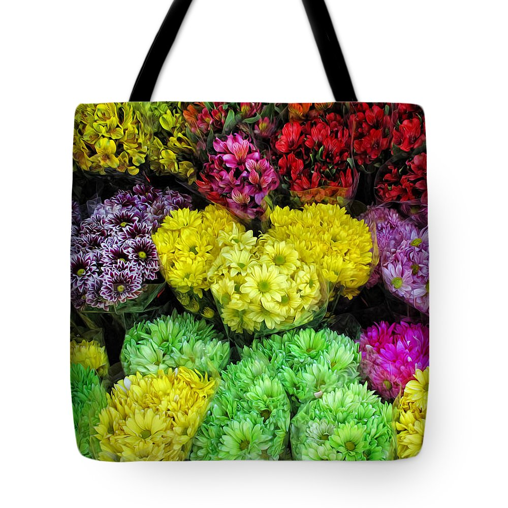 Bouquets Tote Bag featuring the photograph Bouquets by Dave Mills