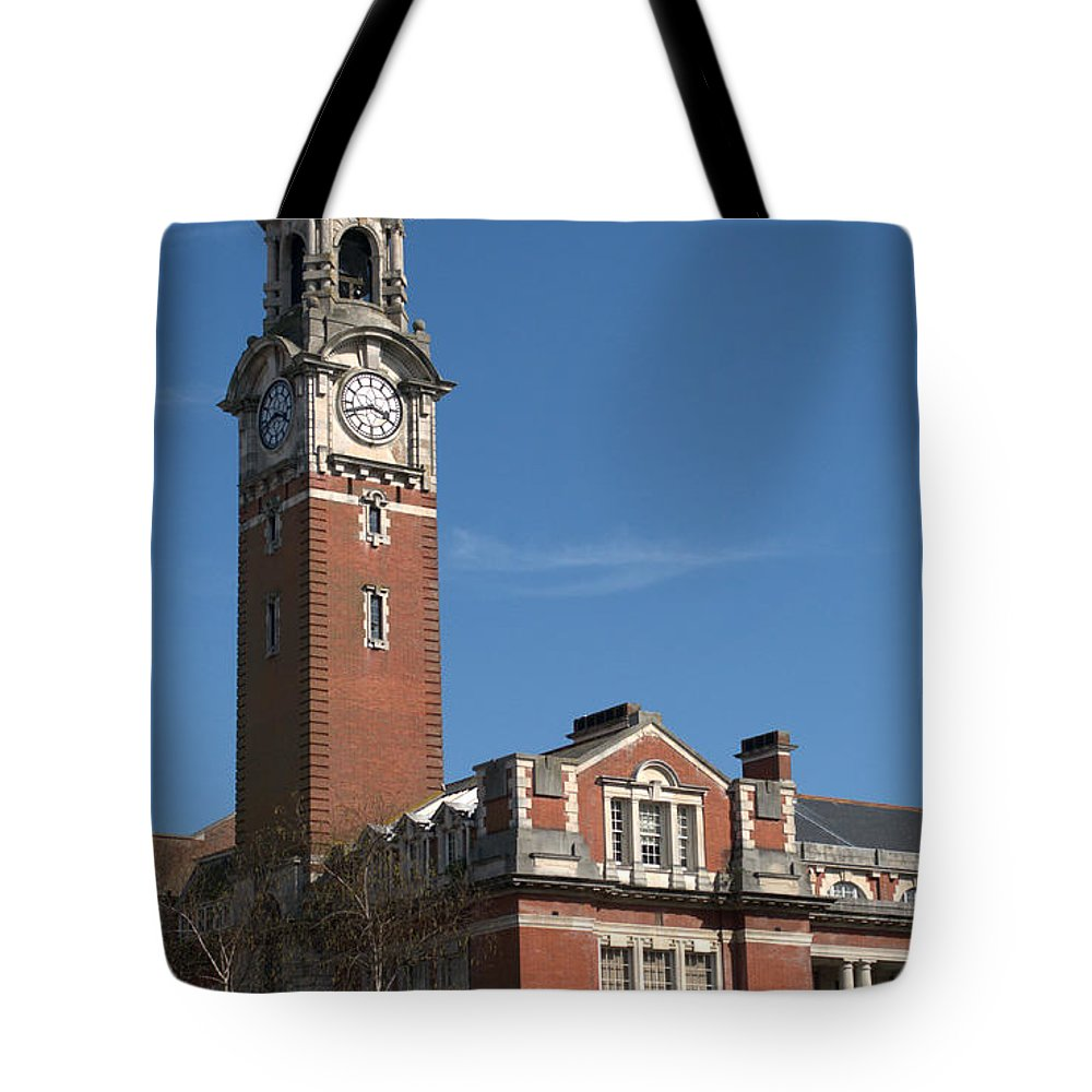 College Tote Bag featuring the photograph Bournemouth College by Chris Day