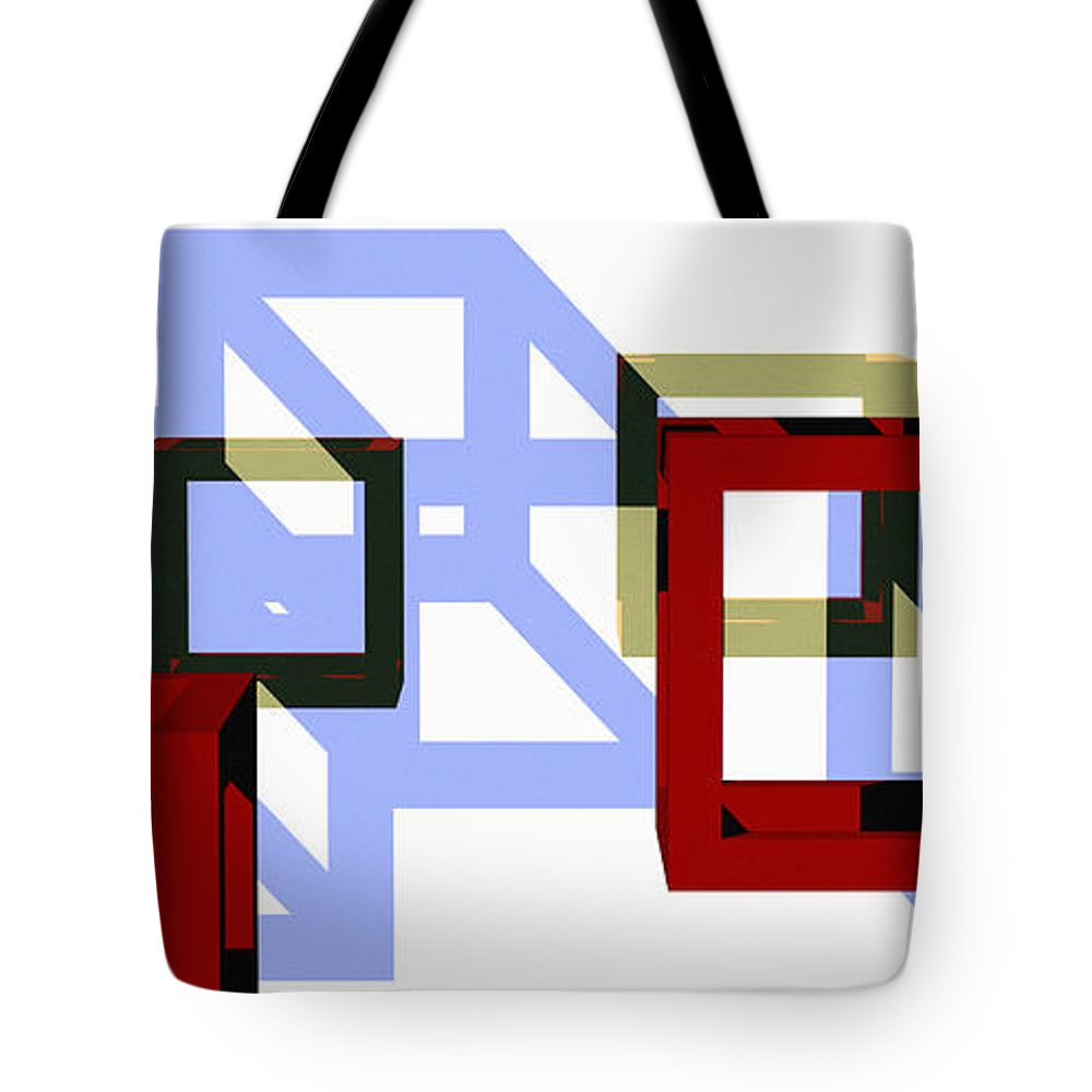 Abstract Tote Bag featuring the digital art Boxed In by Richard Rizzo