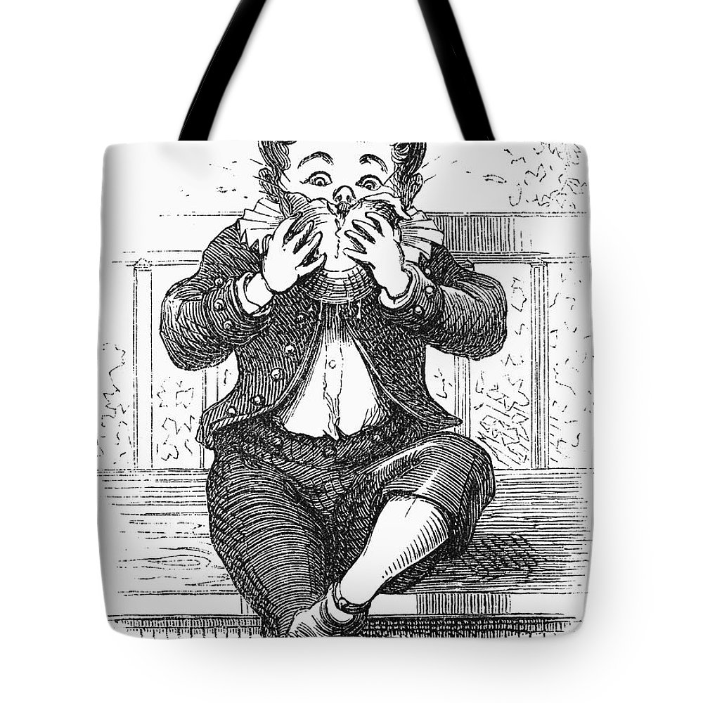 1876 Tote Bag featuring the photograph Boy Eating by Granger