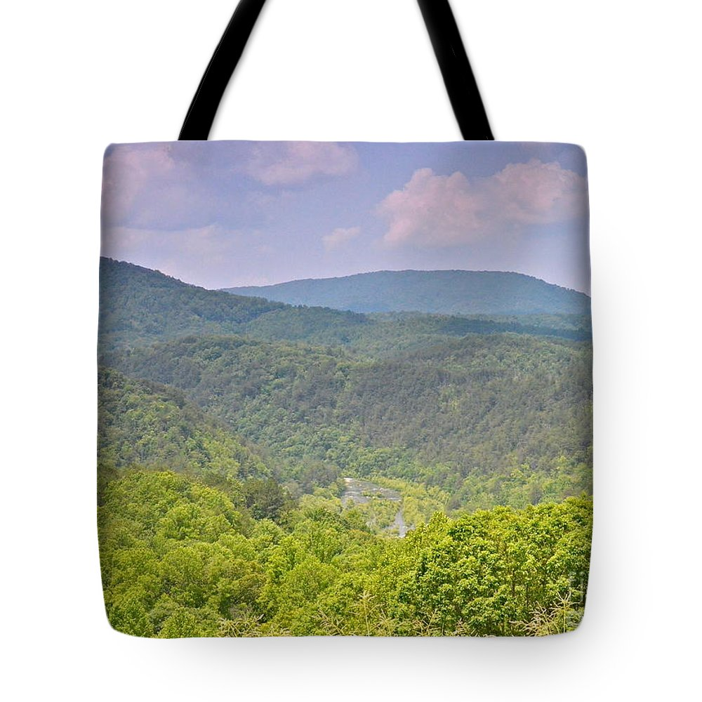 Tennessee Tote Bag featuring the photograph Boyd Gap by Carol Bradley
