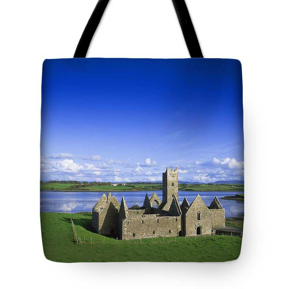 Ancient Ruins Tote Bag featuring the photograph Boyle Abbey, Ballina, Co Mayo by The Irish Image Collection