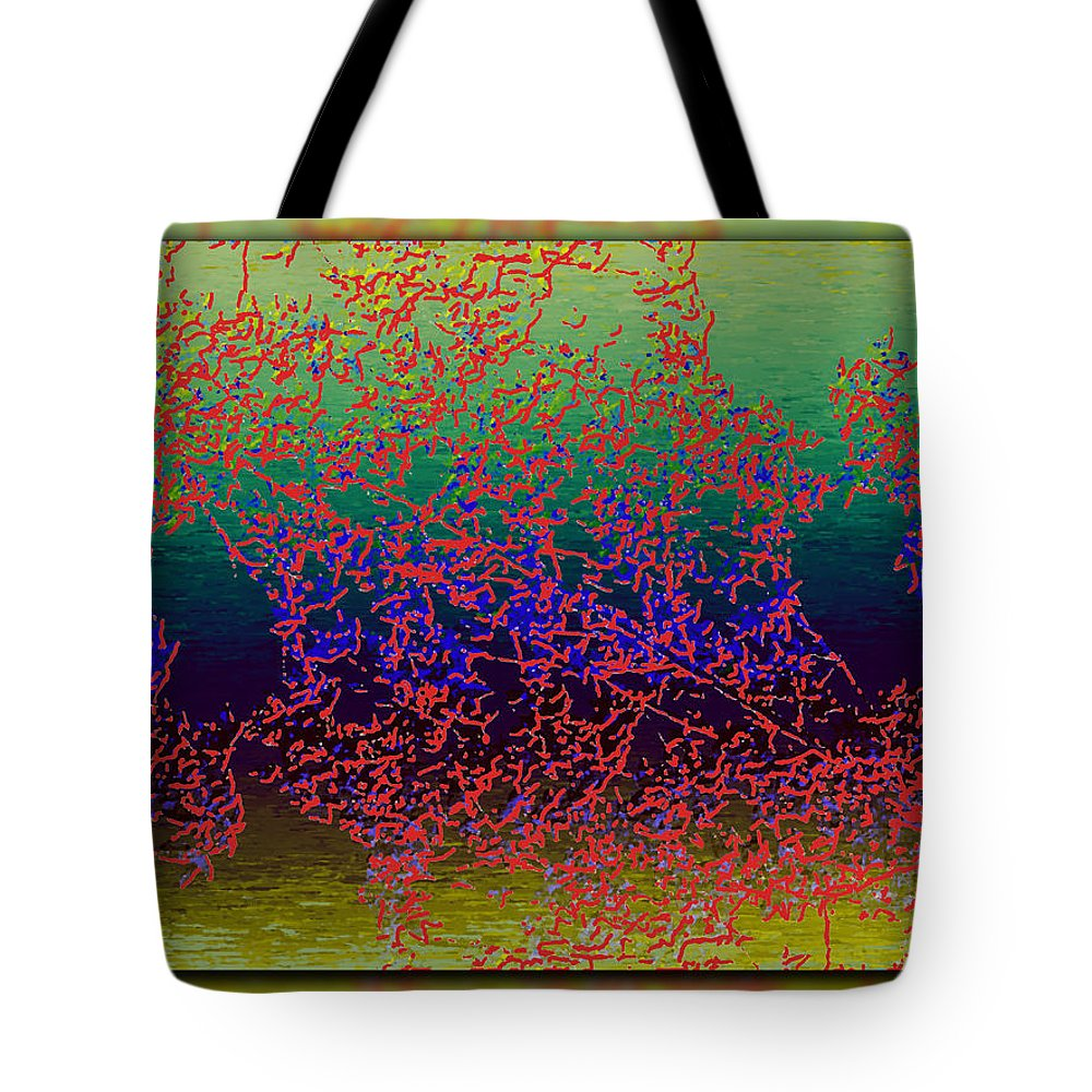 Branches Tote Bag featuring the digital art Branches In The Mist by Tim Allen