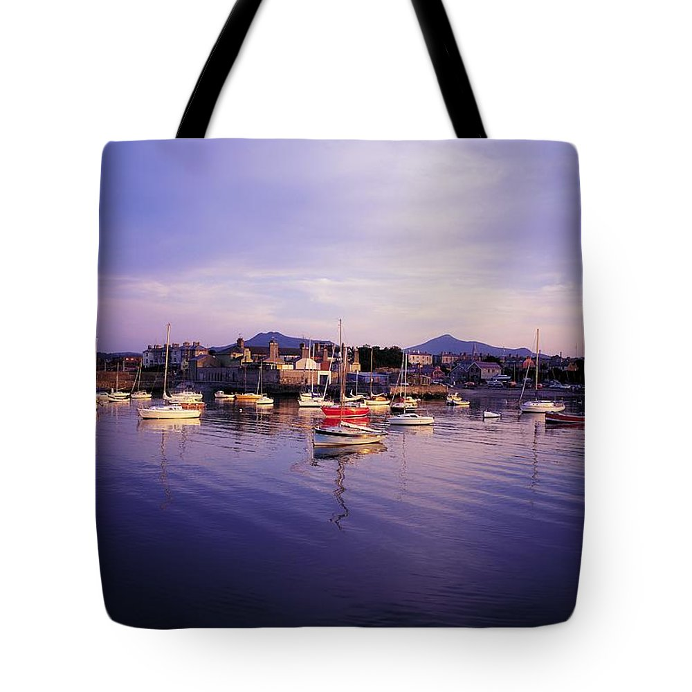 Boat Tote Bag featuring the photograph Bray Harbour, Co Wicklow, Ireland by The Irish Image Collection
