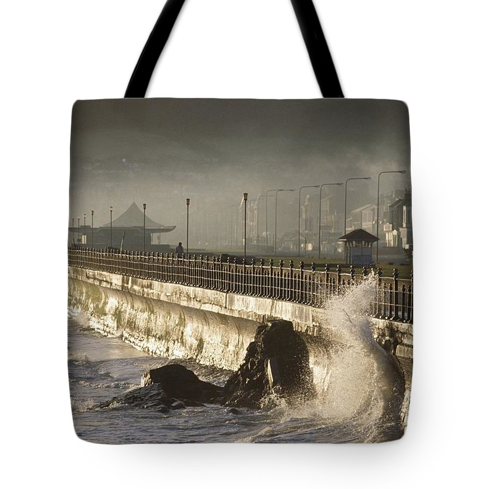 Promenade Tote Bag featuring the photograph Bray Promenade, Bray, County Wicklow by The Irish Image Collection