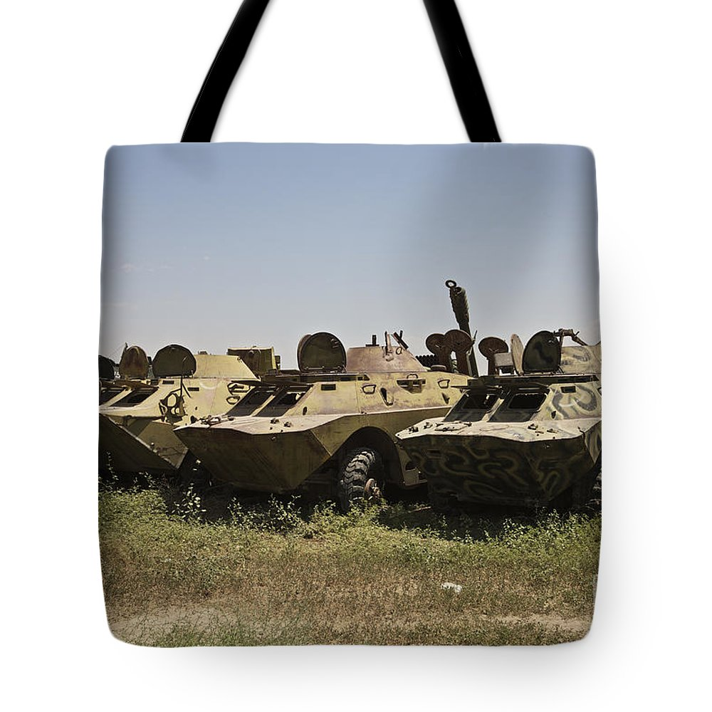 Vehicle Tote Bag featuring the photograph Brdm-2 Combat Reconnaissancepatrol by Terry Moore