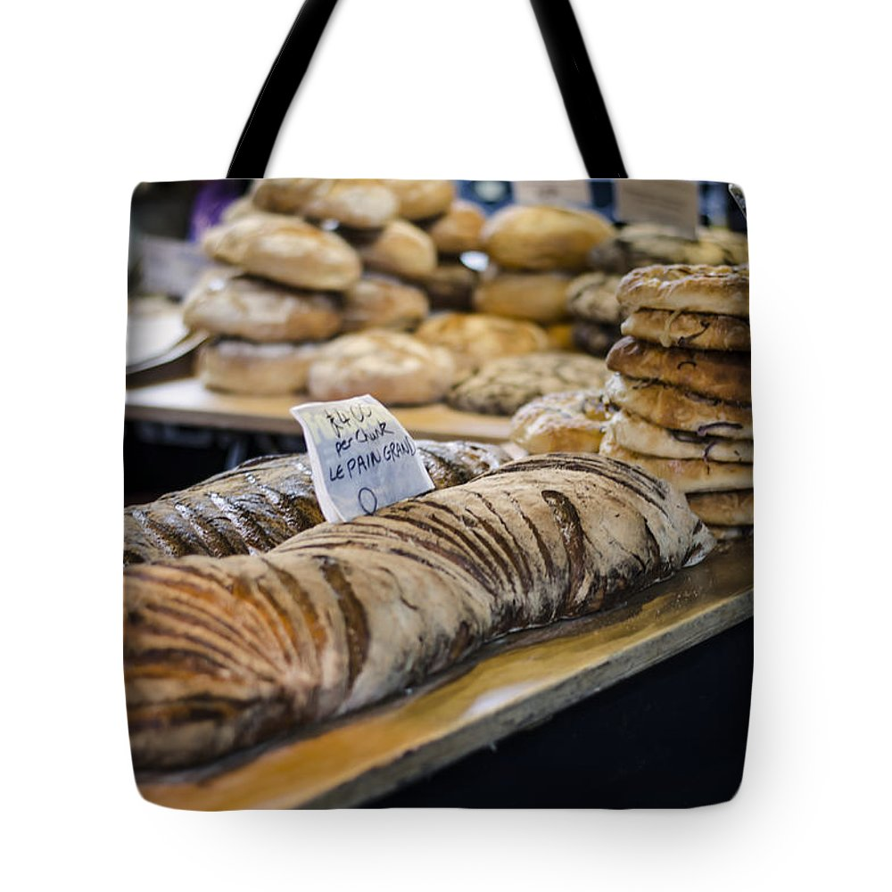 Bread Tote Bag featuring the photograph Bread Market by Heather Applegate