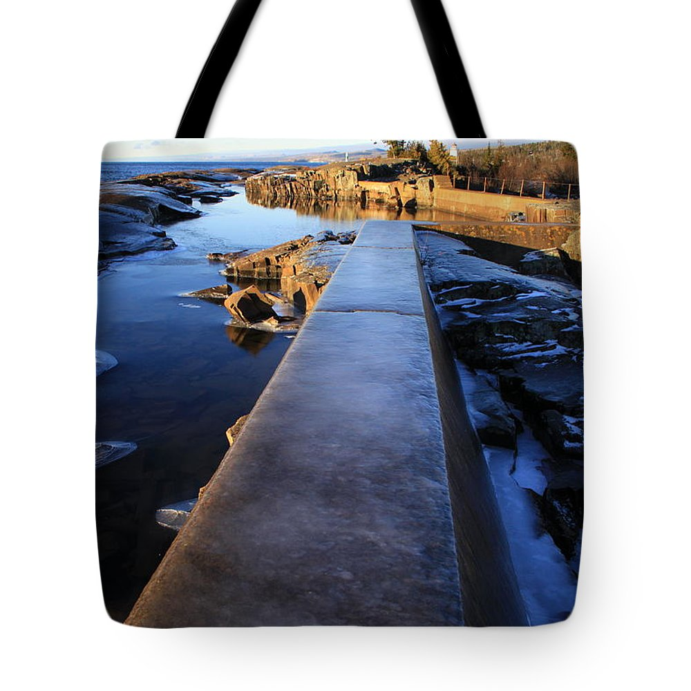 Tote Bag featuring the photograph Breakwater by Joi Electa