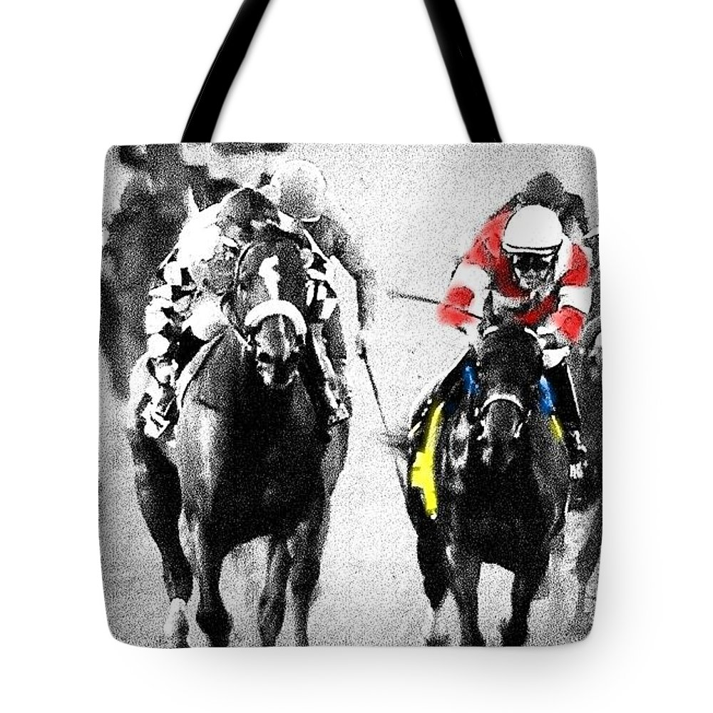 Fort Larned Tote Bag featuring the photograph Breeders Cup Winner by George Pedro