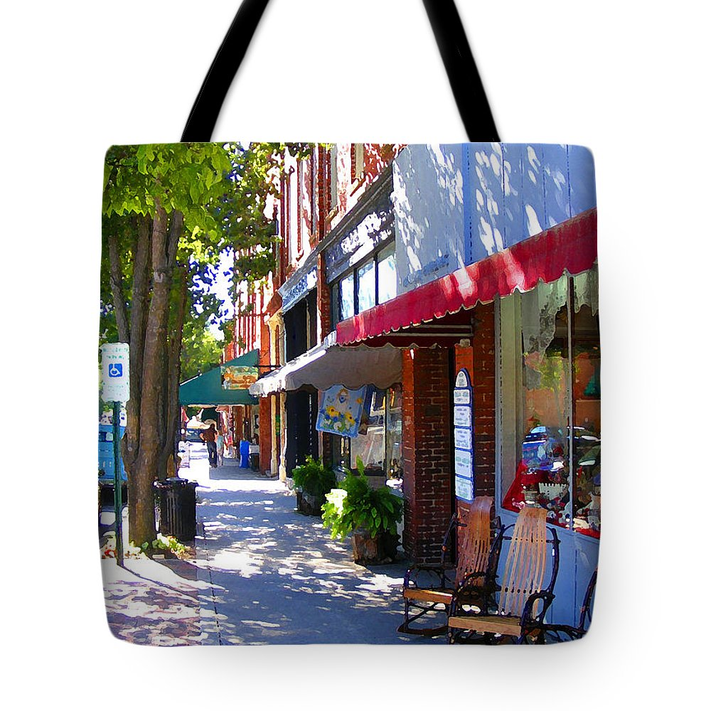 Brevard Tote Bag featuring the photograph Brevard Downtown Filtered by Duane McCullough