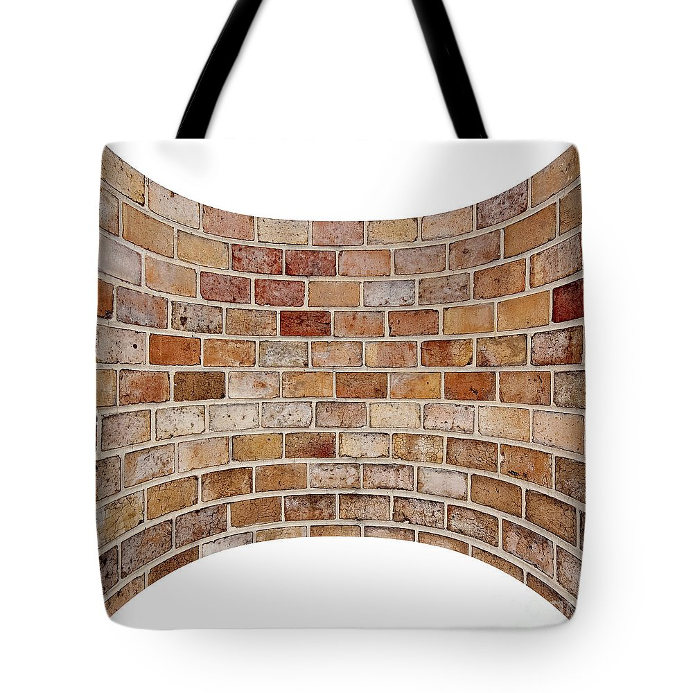 Pattern Tote Bag featuring the photograph Brick Wall by Michal Boubin