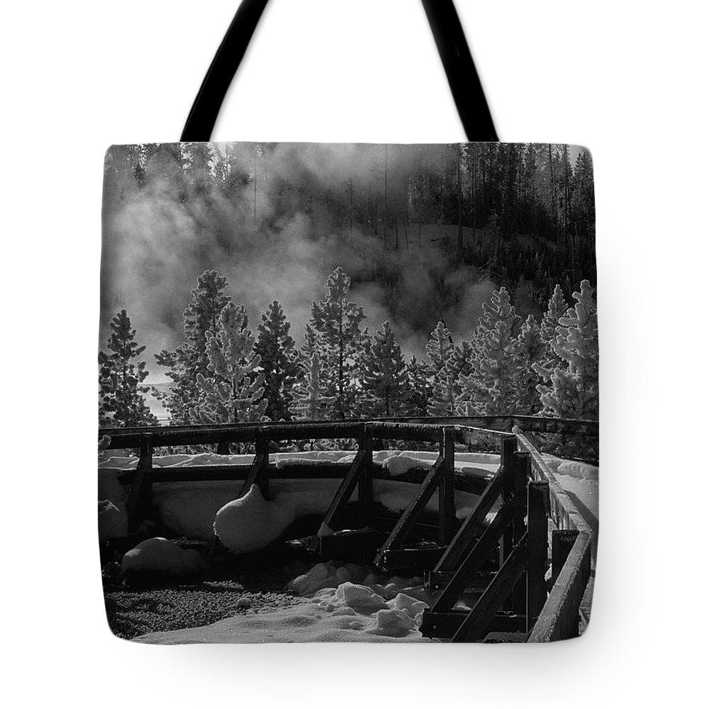 Sandra Bronstein Tote Bag featuring the photograph Bridge In Mud Volcano Area by Sandra Bronstein
