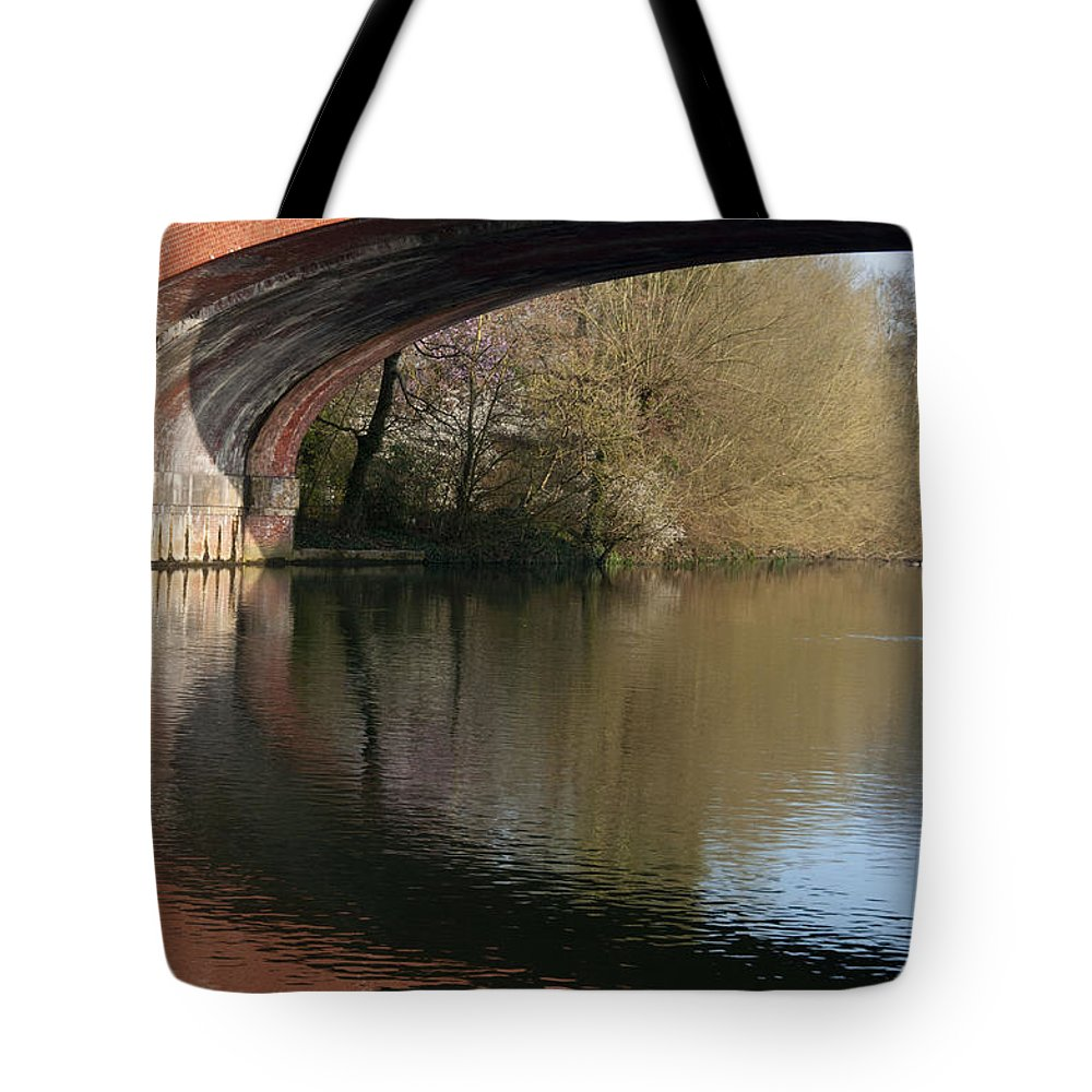 2011 Tote Bag featuring the photograph Bridge Reflections by Andrew Michael