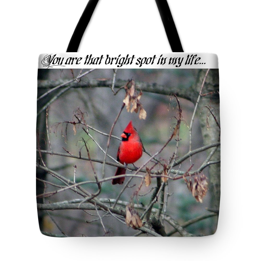 Tote Bag featuring the photograph Bright Spot by Barbara S Nickerson