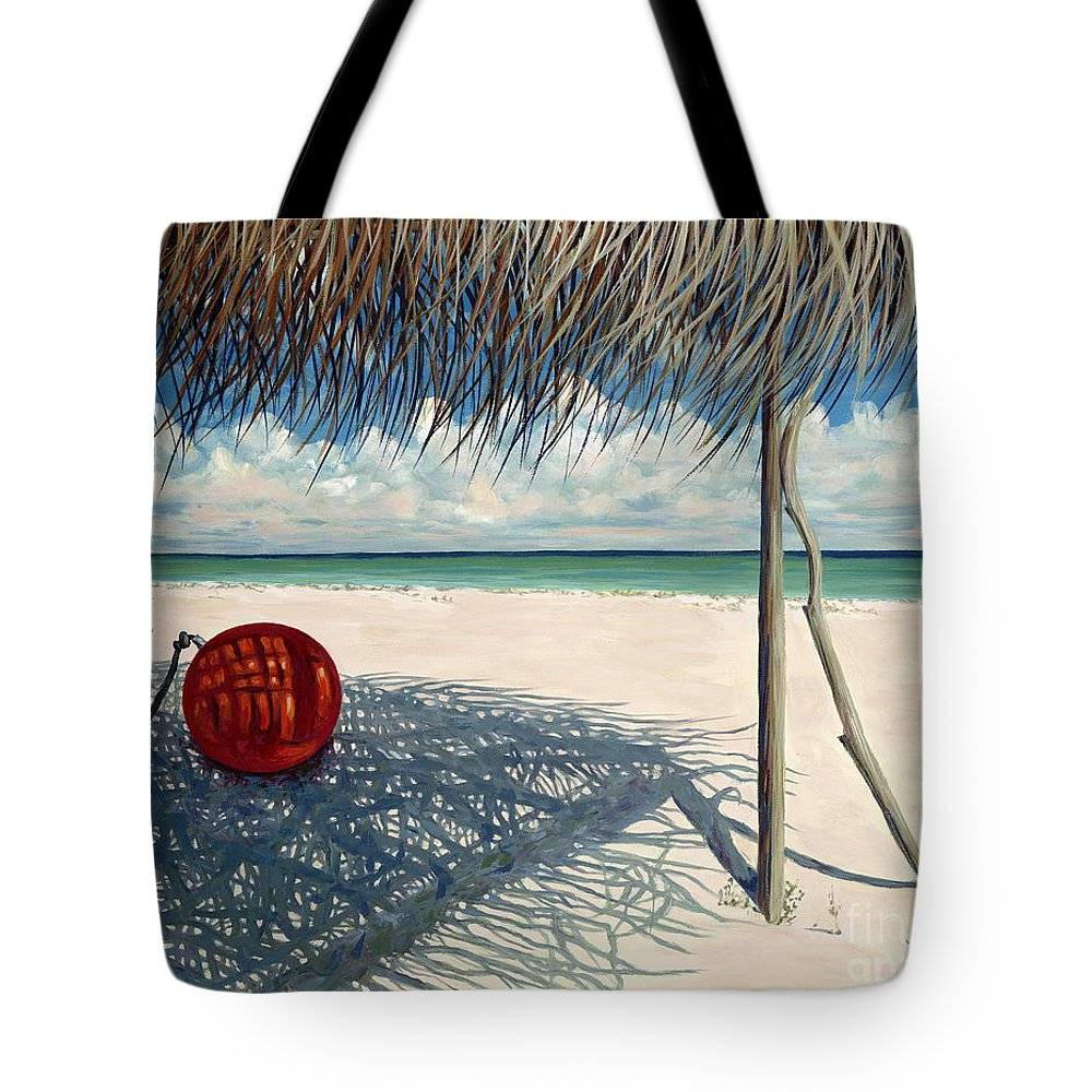 Harbour Island Tote Bag featuring the painting Briland Buoy by Danielle Perry