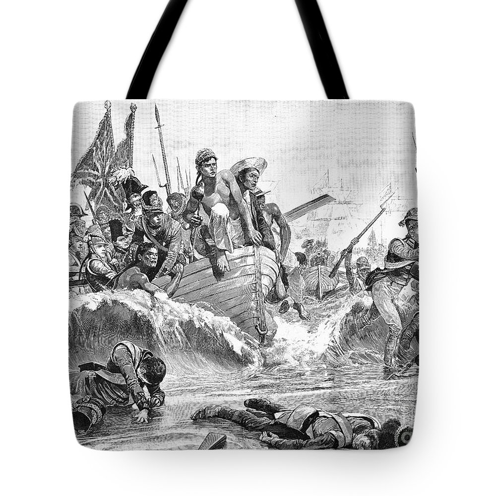1801 Tote Bag featuring the photograph British At Aboukir, 1801 by Granger