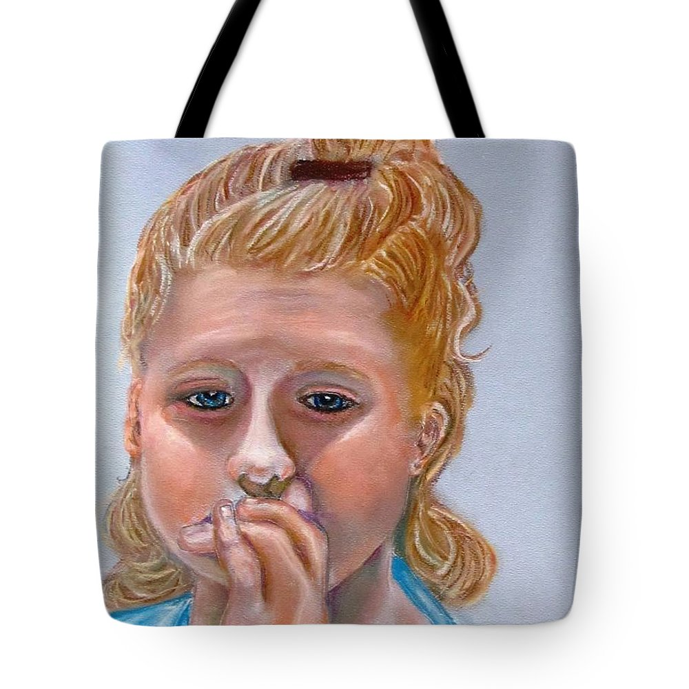 Sadness Tote Bag featuring the pastel Broken Hearted by Carol Allen Anfinsen