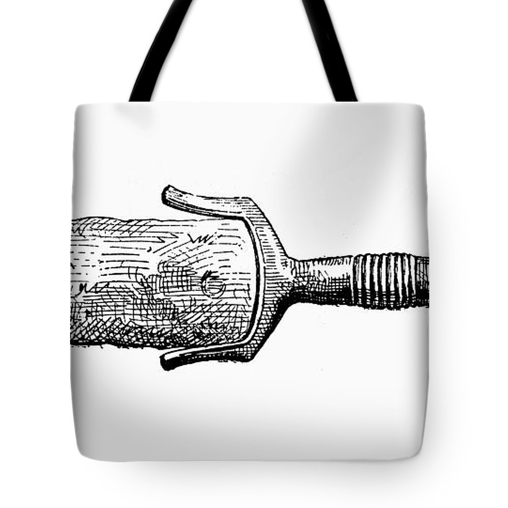 Ancient Tote Bag featuring the photograph Bronze Age Sword by Granger