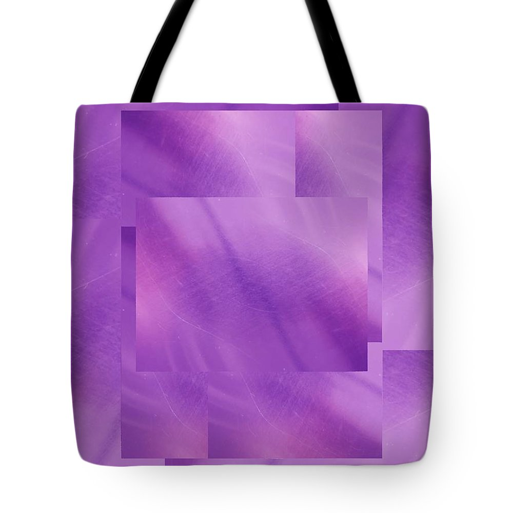 Abstract Tote Bag featuring the digital art Brushed Purple Violet 5 by Tim Allen