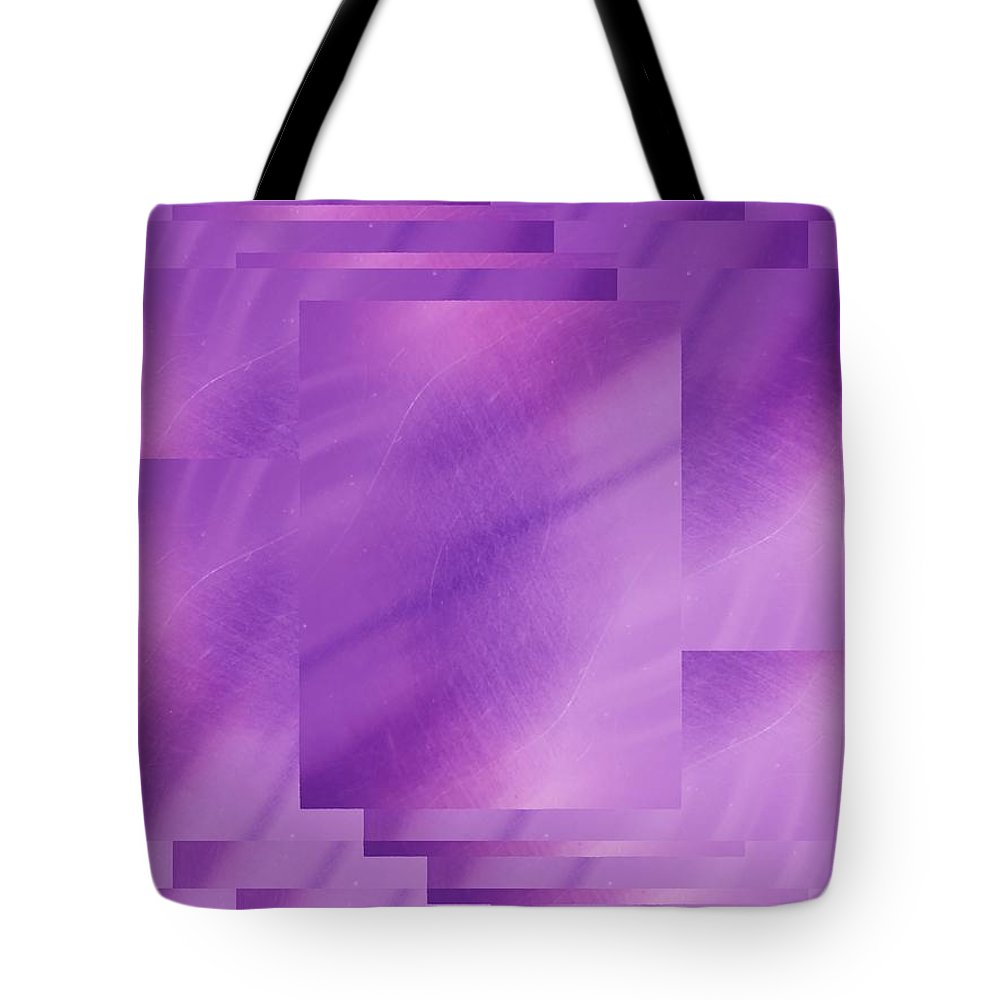 Abstract Tote Bag featuring the digital art Brushed Purple Violet 7 by Tim Allen