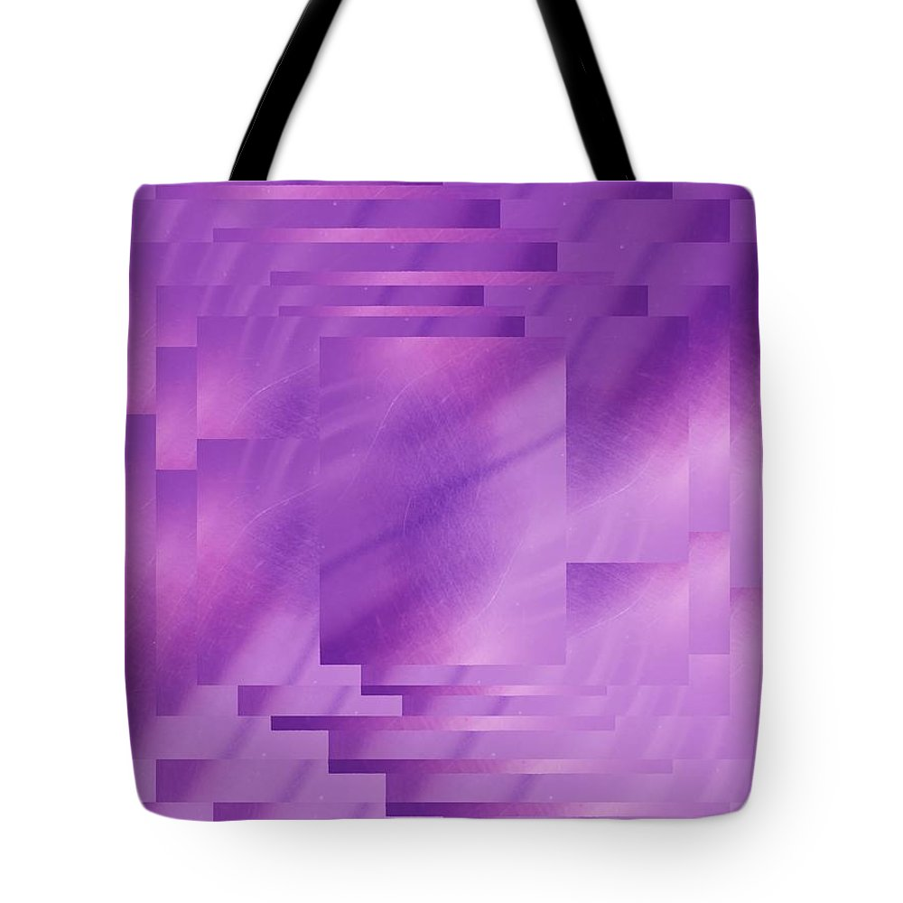 Abstract Tote Bag featuring the digital art Brushed Purple Violet 8 by Tim Allen