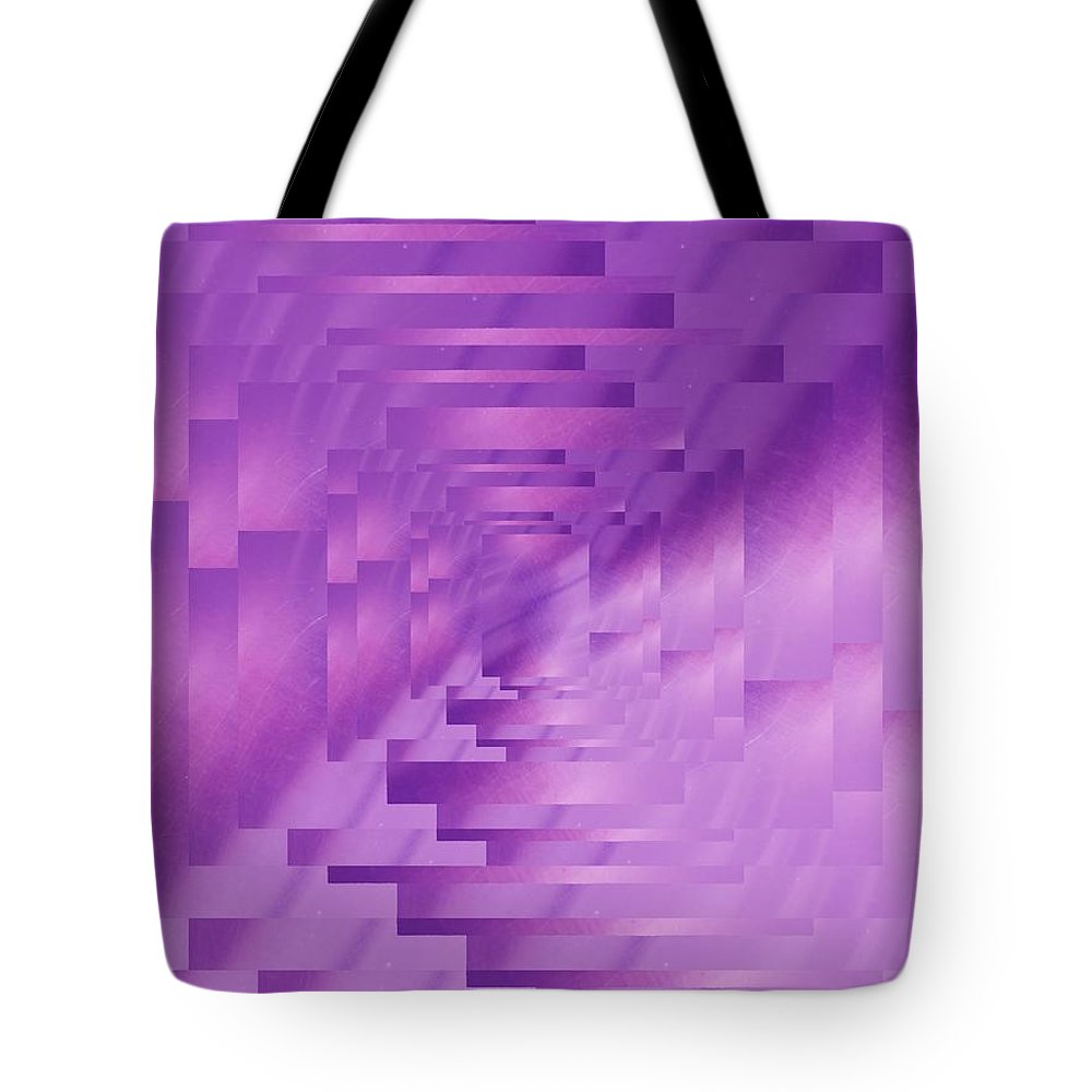 Abstract Tote Bag featuring the digital art Brushed Purple Violet 9 by Tim Allen