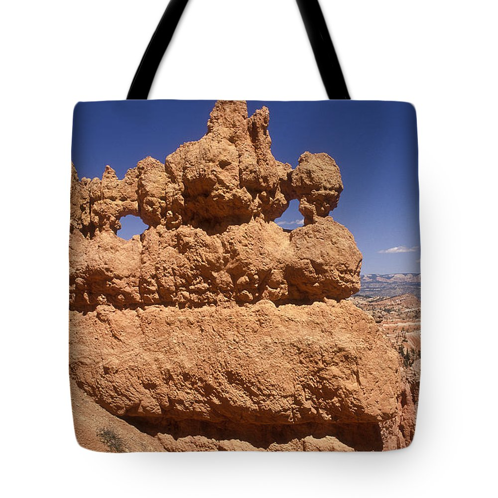 Bryce Canyon Tote Bag featuring the photograph Bryce Canyon - Mask Formation by Sandra Bronstein