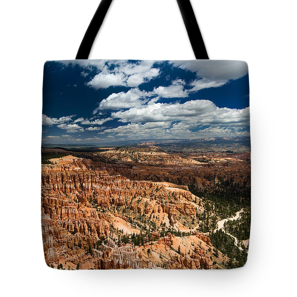 Bryce Tote Bag featuring the photograph Bryce Canyon Ampitheater by Larry Carr