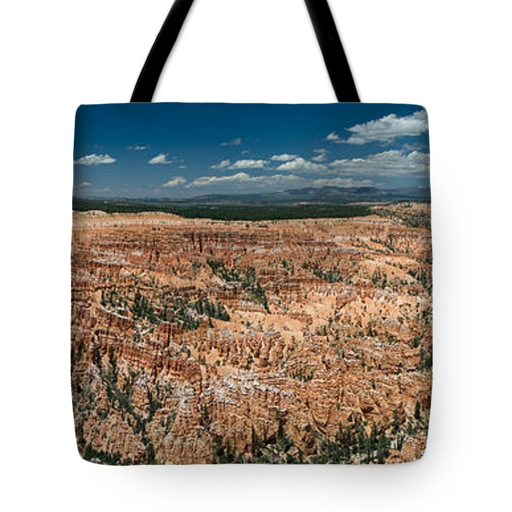 Bryce Tote Bag featuring the photograph Bryce Canyon Panaramic by Larry Carr