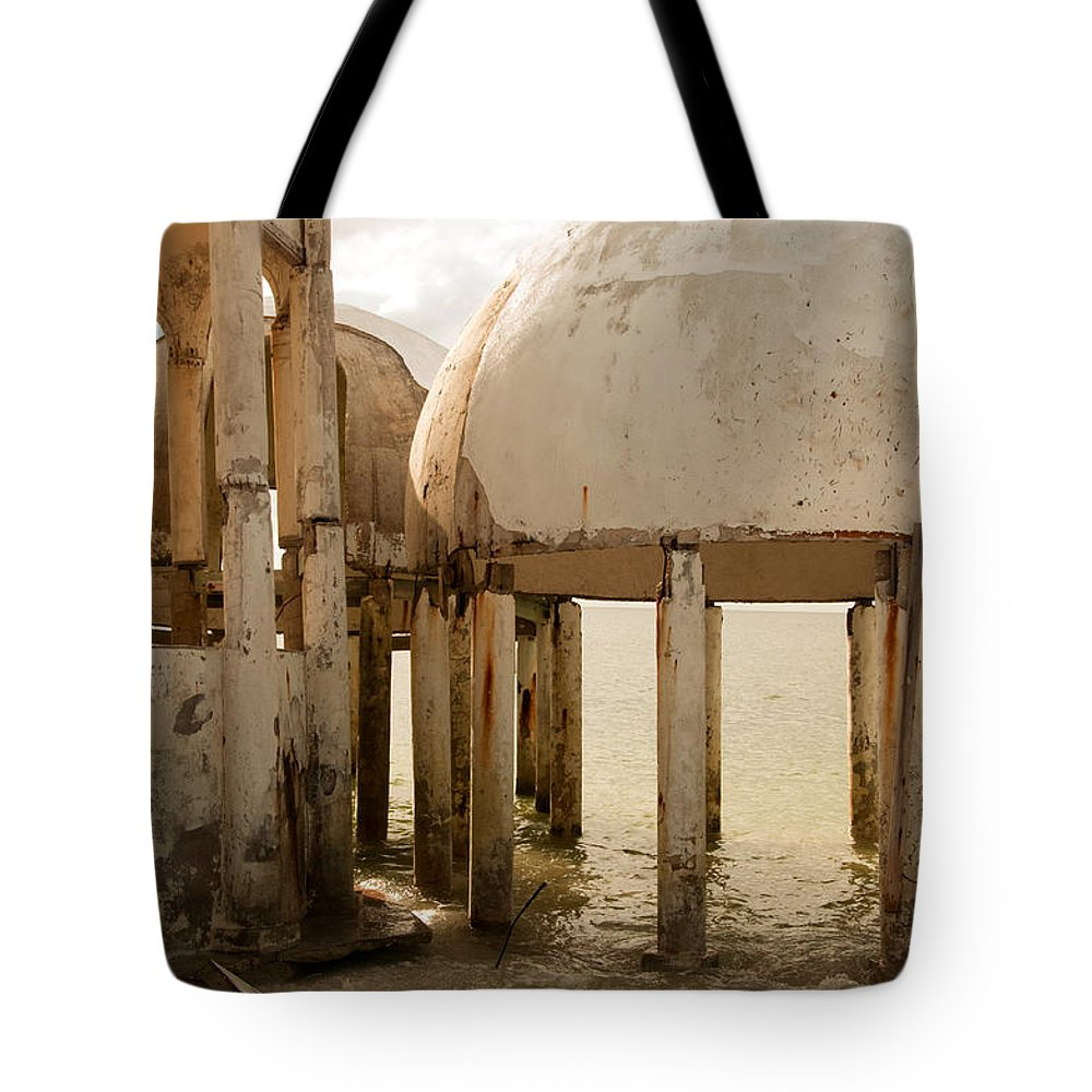 Bubble Houses Tote Bag featuring the photograph Bubble House I by Christine Stonebridge