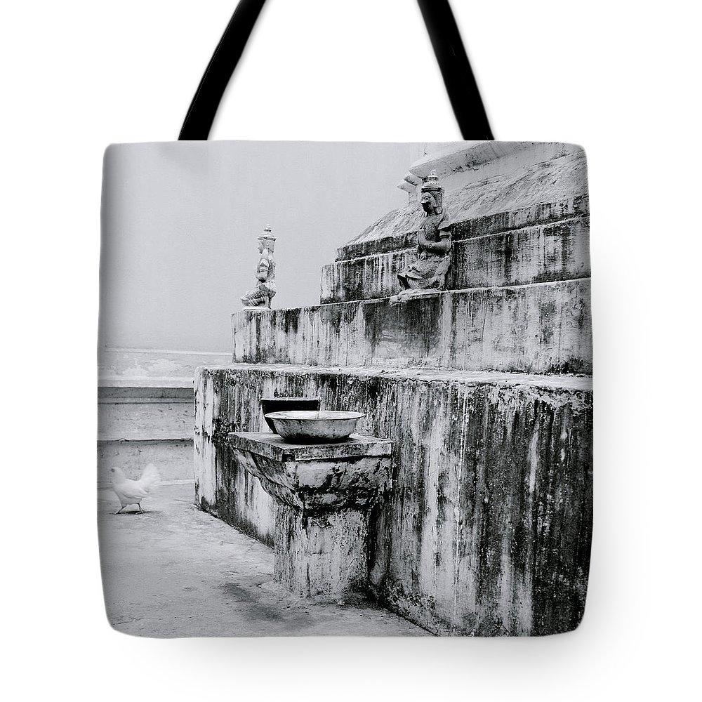 Thai Tote Bag featuring the photograph Buddhist Simplicity by Shaun Higson