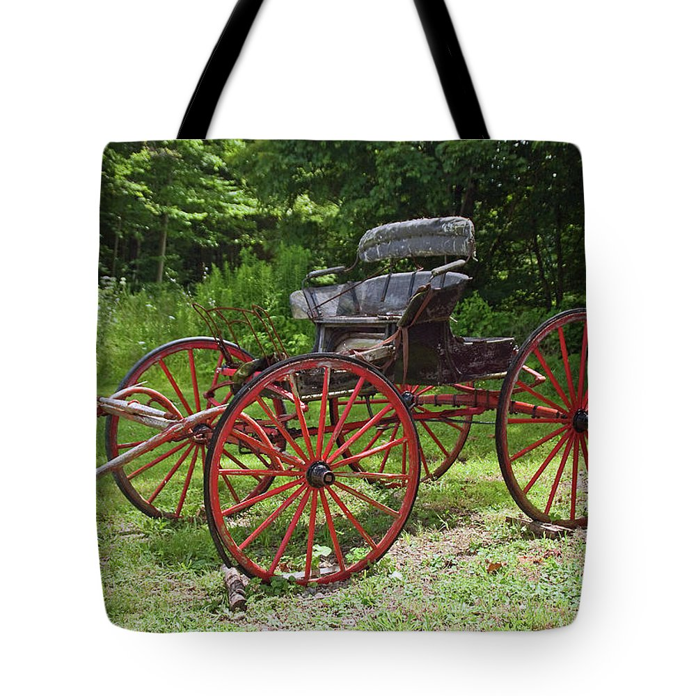 Farm Related Tote Bag featuring the photograph Buggy 11628 by Guy Whiteley