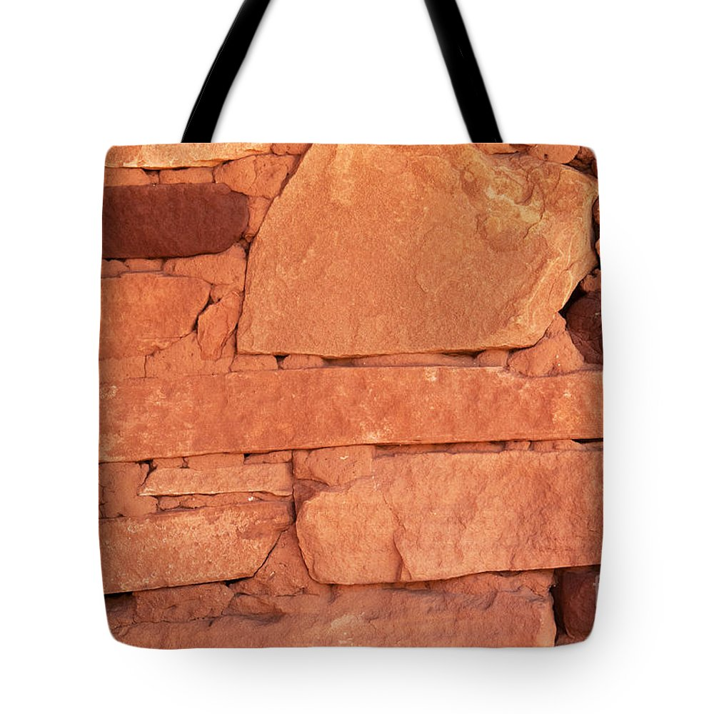 Stone Tote Bag featuring the photograph Building Blocks by Bob and Nancy Kendrick