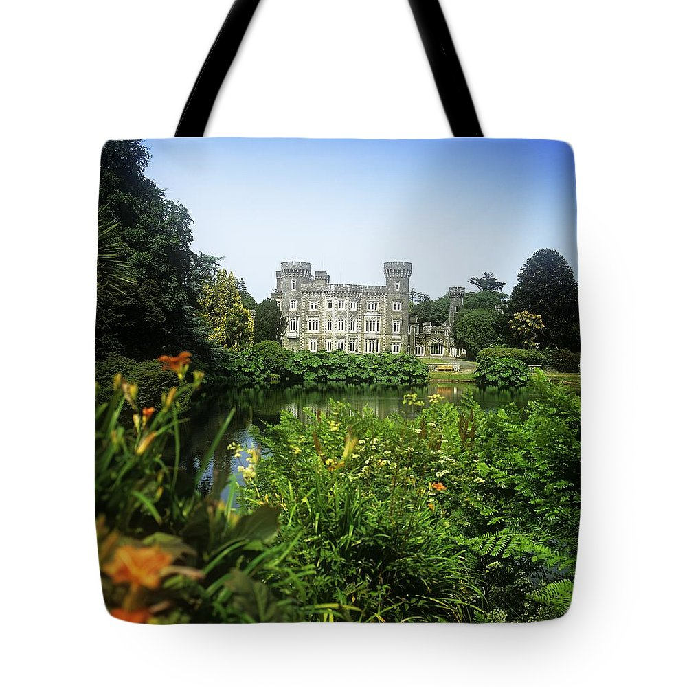Building Exterior Tote Bag featuring the photograph Building Structure In A Garden by The Irish Image Collection