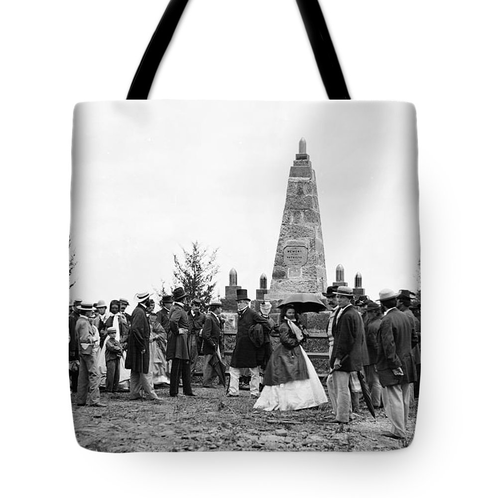 1865 Tote Bag featuring the photograph Bull Run Monument, 1865 by Granger