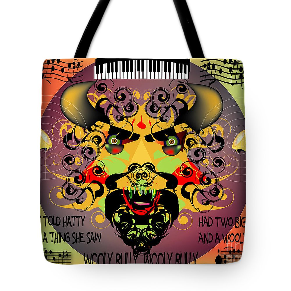 Abstract Tote Bag featuring the digital art Bully by George Pasini