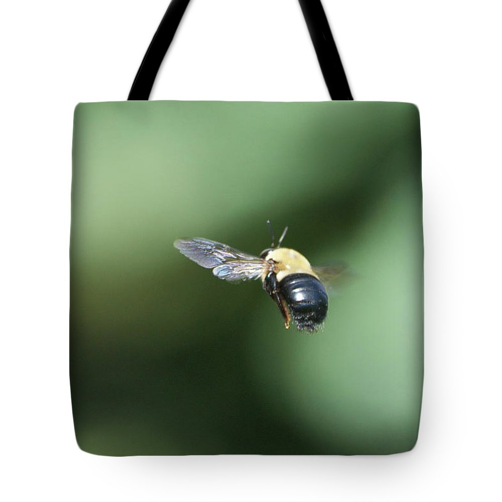 Bumble Bee Tote Bag featuring the photograph Bumble Bee 2 by Thomas Woolworth