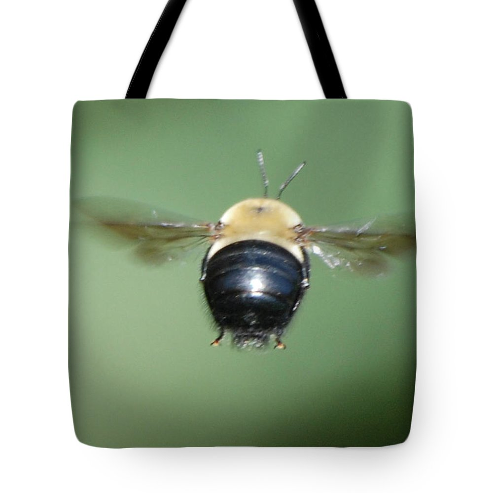 Bumble Bee Tote Bag featuring the photograph Bumble Bee 3 by Thomas Woolworth
