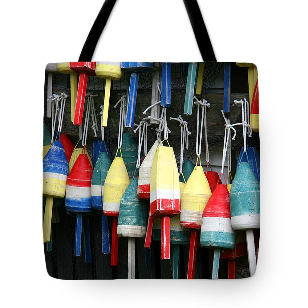 Portland Tote Bag featuring the photograph Buoy Wash by Brenda Giasson
